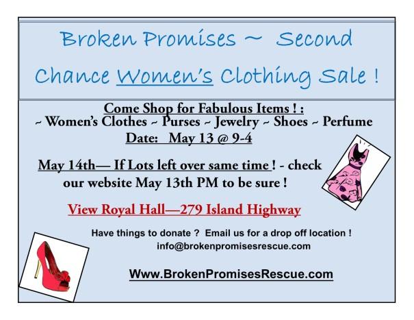 clothing sale event details